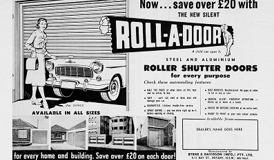 50's Era B&D Australia Roll-A-Door Ad