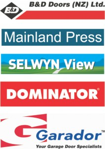 B&D Doors, Dominator, Garador, Mainland Press, Selwyn View